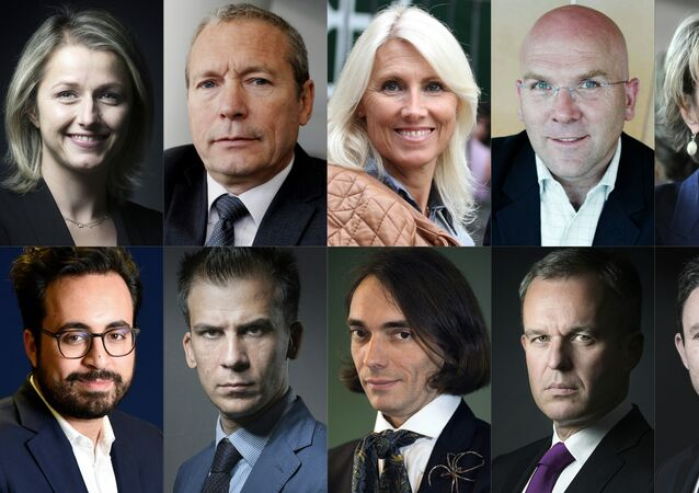 (COMBO) This combination of pictures created on May 11, 2017 in Paris shows the candidates newly invested by La Republique en marche party for the French parliamentary elections (legislative) in June