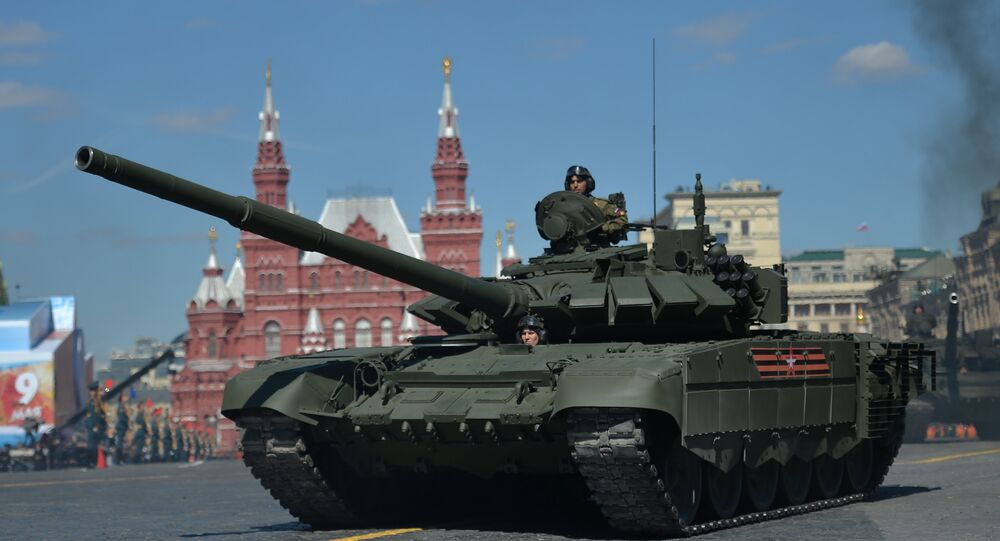 A T-72B3 tank during the final rehearsal of the military parade in Moscow to mark the 72nd anniversary of the WWII victory. File photo