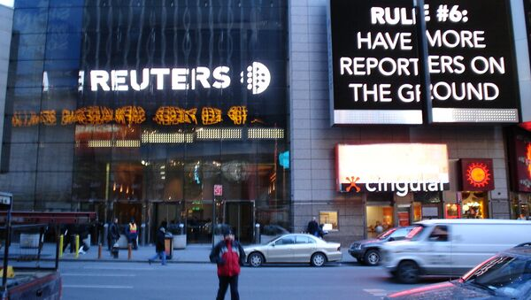 Reuters building entrance in New York City - Sputnik International