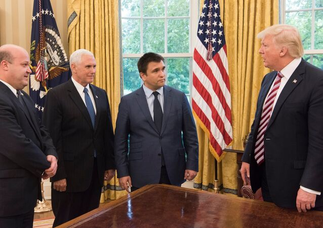 Klimkin's visit to Washington to meet Trump & Pence