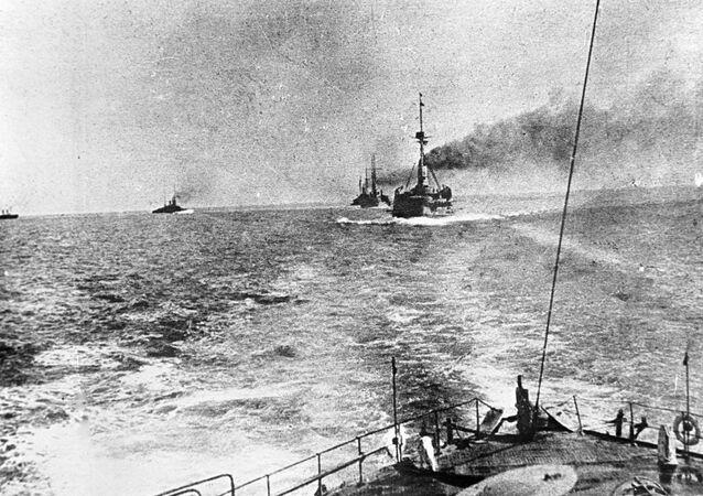 Warships pf the Russian Navy's Black Sea Fleet during World War One