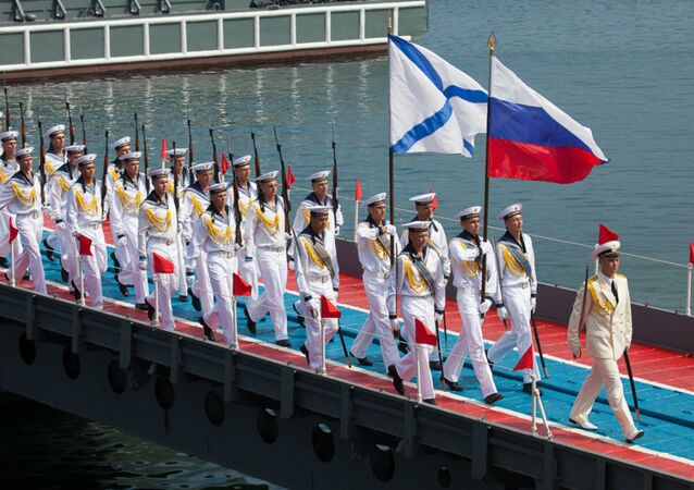 Celebrating Russian Navy Day in the Black Sea Fleet (Sevastopol)