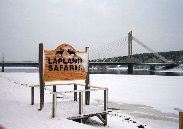 The river Ounaskoski in the Finnish Arctic town of Rovaniemi