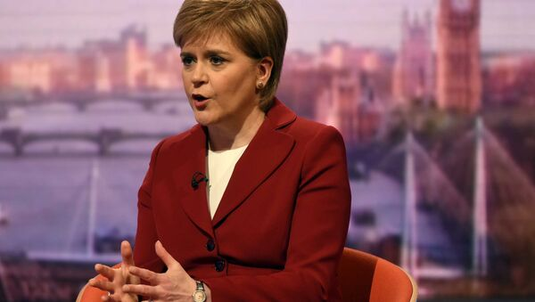 Scotland's First Minister Nicola Sturgeon speaks on the BBC's Andrew Marr Show in London, May 14, 2017. - Sputnik International