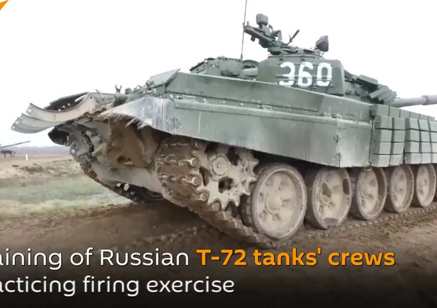 Russian Military Practicing Firing Exercises