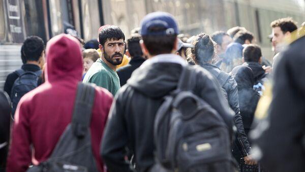 Migrants in Padborg, Denmark - Sputnik International