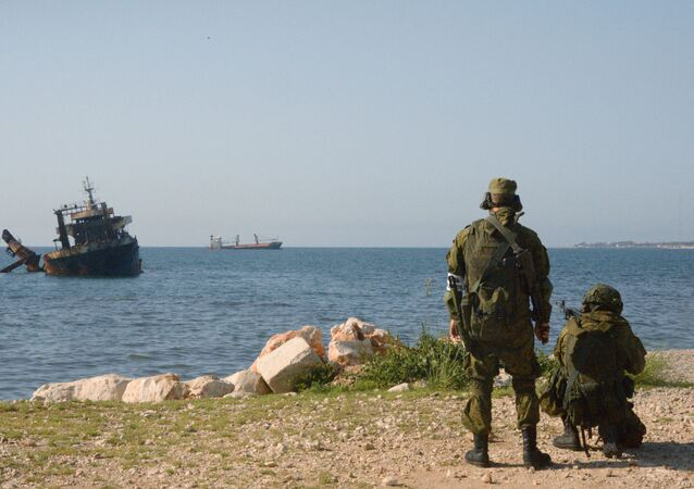 Joint Russian-Syrian military exercise in Tartous