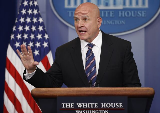 White House national security advisor H.R. McMaster speaks in the White House briefing room in Washington, U.S., file photo.