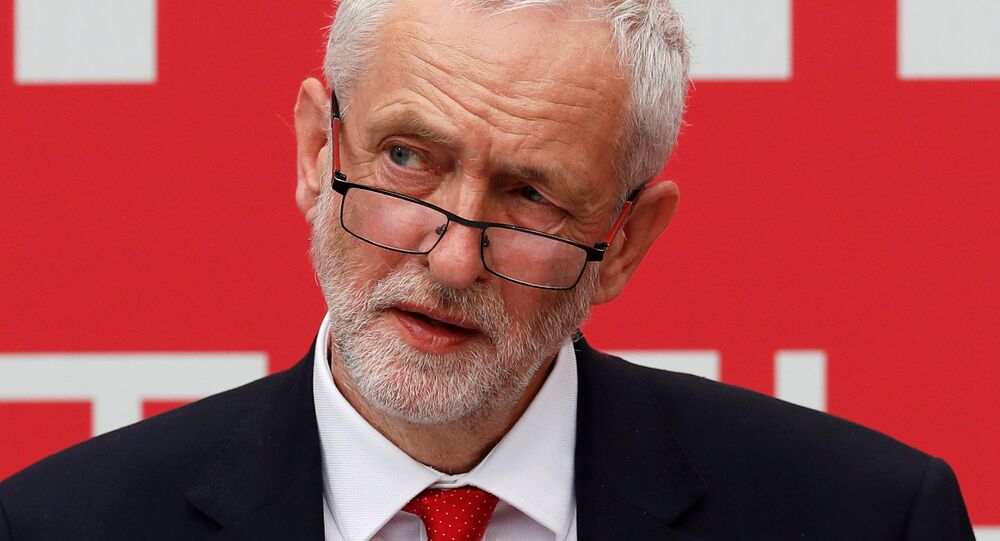 Jeremy Corbyn, the leader of Britain's opposition Labour Party, launches the party's election manifesto at Bradford University, May 16, 2017.