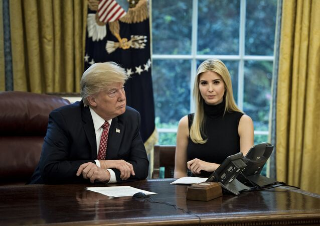 US President Donald Trump (L) and Ivanka Trump