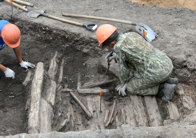 Excavations works in Moscow