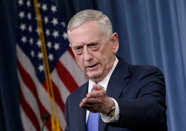 U.S. Defense Secretary James Mattis gestures during a press briefing on the campaign to defeat ISIS at the Pentagon in Washington, U.S., May 19, 2017