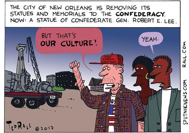 Robert E Lee Statue Cartoon