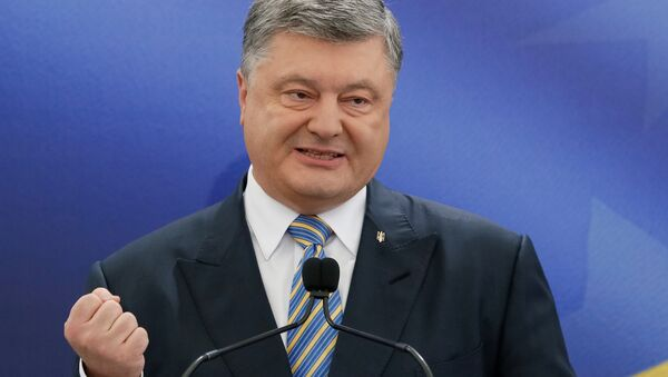 Ukrainian President Petro Poroshenko speaks during a news conference in Kiev, Ukraine May 14, 2017 - Sputnik International