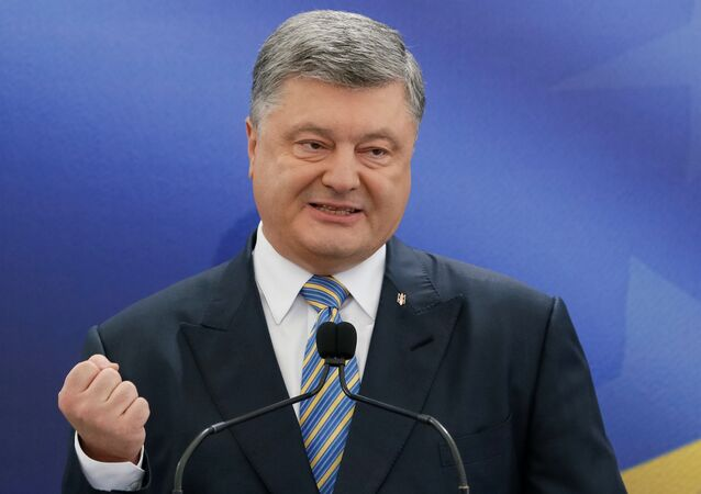 Ukrainian President Petro Poroshenko speaks during a news conference in Kiev, Ukraine May 14, 2017