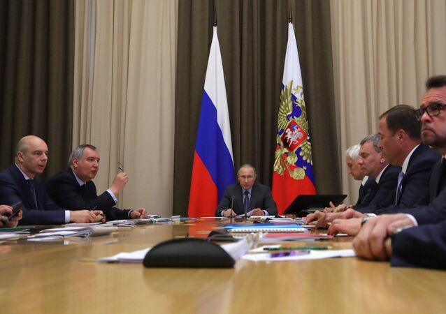 President Vladimir Putin conducts meeting on space branch development in Russia