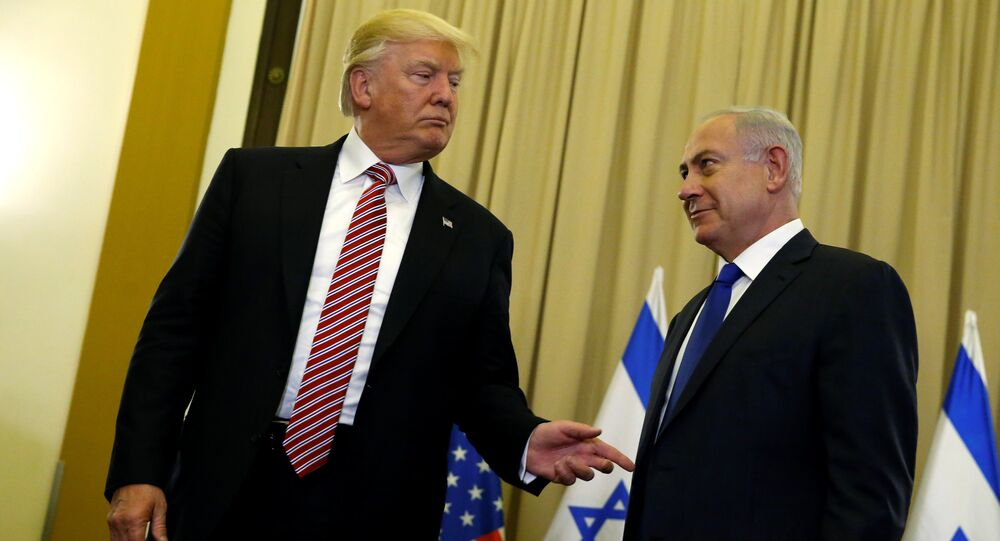 U.S. President Donald Trump (L) and Israel's Prime Minister Benjamin Netanyahu speak to reporters before their meeting at the King David Hotel in Jerusalem May 22, 2017