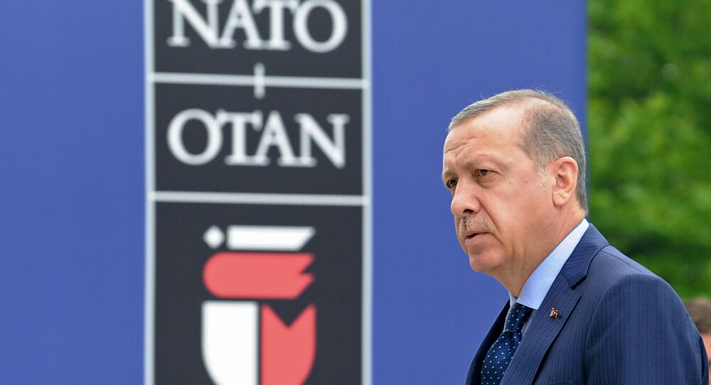 Turkey's President Recep Tayyip Erdogan arrives for sessions on the second day of the NATO Summit in Warsaw, Poland. (File)