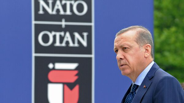 Turkey's President Recep Tayyip Erdogan arrives for sessions on the second day of the NATO Summit in Warsaw, Poland. (File) - Sputnik International