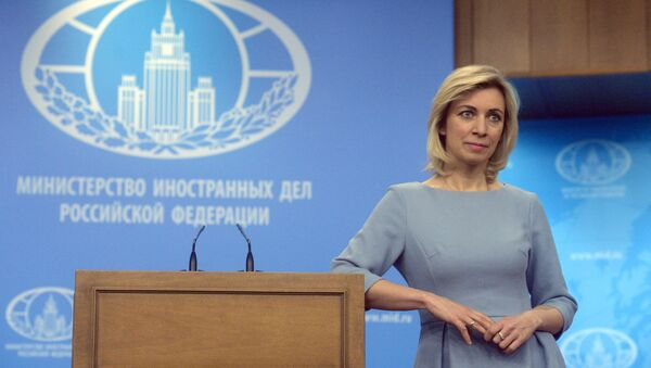 Foreign Ministry Official Spokesperson Maria Zakharova at a briefing on current foreign policy issues - Sputnik International
