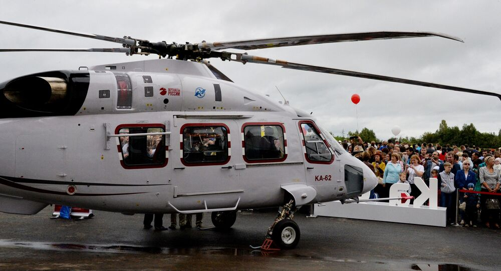 Ka-62 multi-purpose mid size helicopter at the aircraft exhibition as part of the festivities marking the 80th birthday of the Progress Arsenyev Aviation Company. (File)