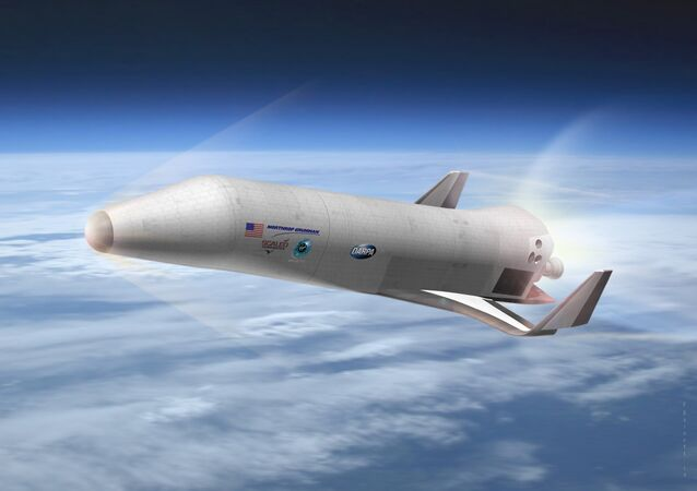 Northrop Grumman Corporation with Scaled Composites and Virgin Galactic's preliminary design for DARPA's Experimental Spaceplane XS-1, shown here in an artist's concept. DARPA ended up going with a Boeing design instead.
