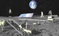 Future Russian lunar base artist concept