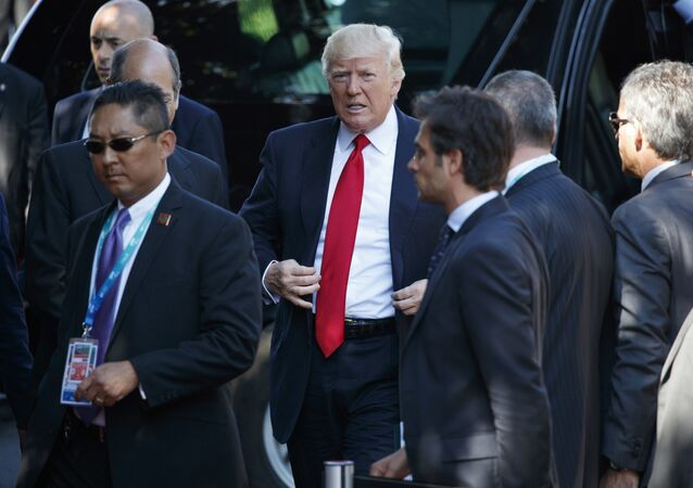 Trump arrives for a working session with outreach countries and international organizations at the G7 Summit, Saturday, May 27, 2017, in Taormina, Italy