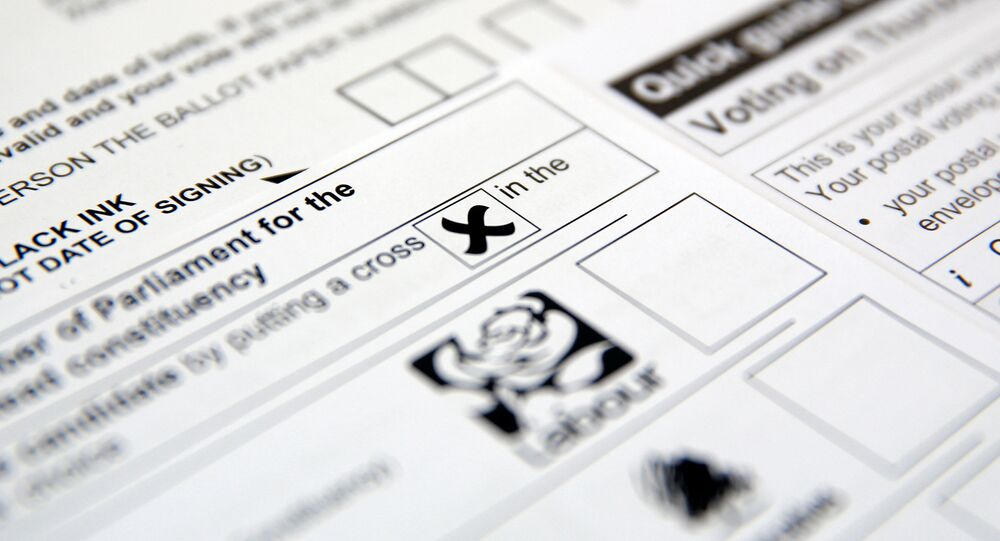 Postal voting papers for the UK general election of 8 June 2017.