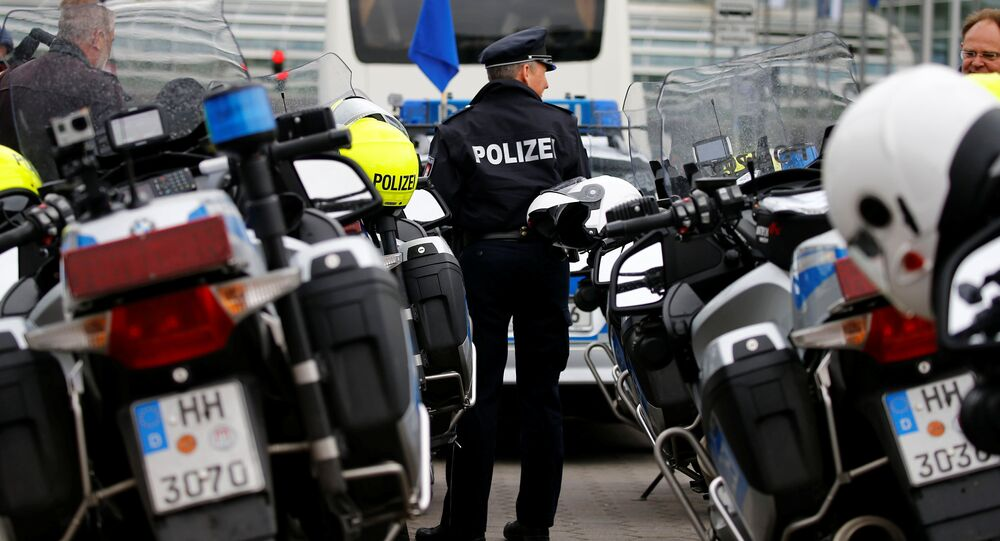 Hamburg Police motorcycles are seen during an exercise on safely transporting official guests prior to G20 in Hamburg, May 10, 2017