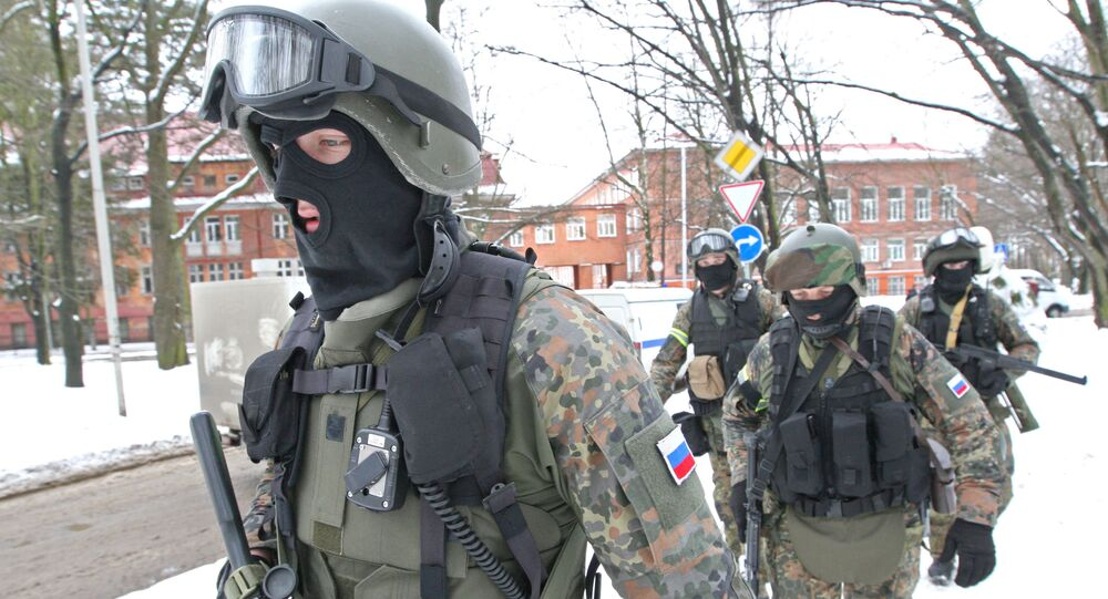 Anti-terrorism exercises of FSB special forces and Russian MVD (Ministry of Internal Affairs)