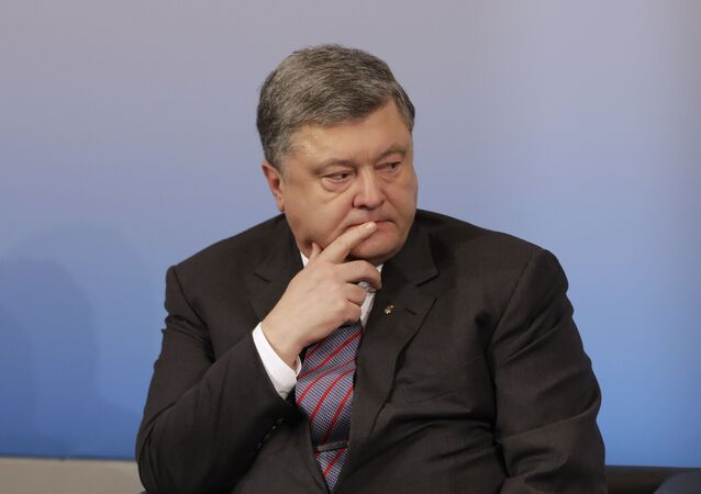 Ukrainian President Petro Poroshenko attends a panel discussion 'The Future of the West: Downfall or Comeback?' during the Munich Security Conference in Munich, Feb. 17, 2017