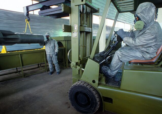 Preparation before demonstrating technology of chemical weapons' elimination