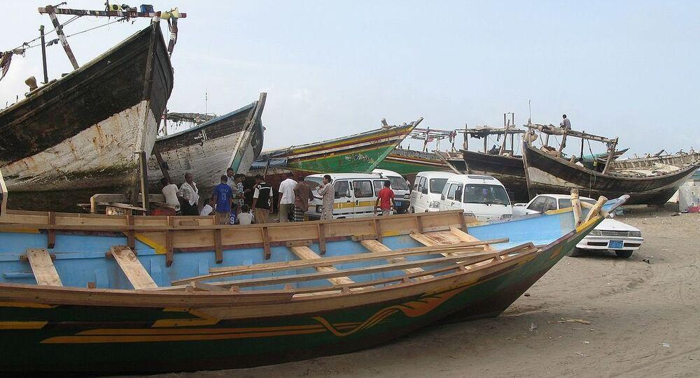 Al Hudaydah, Yemen - fishing boats