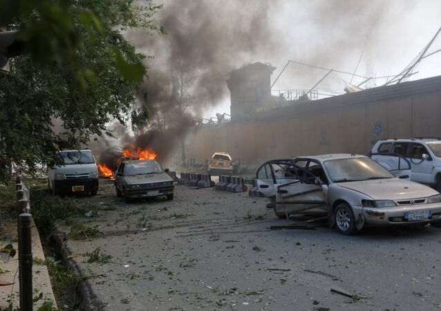 Damaged cars are seen at the site of a blast in Kabul, Afghanistan May 31, 2017.