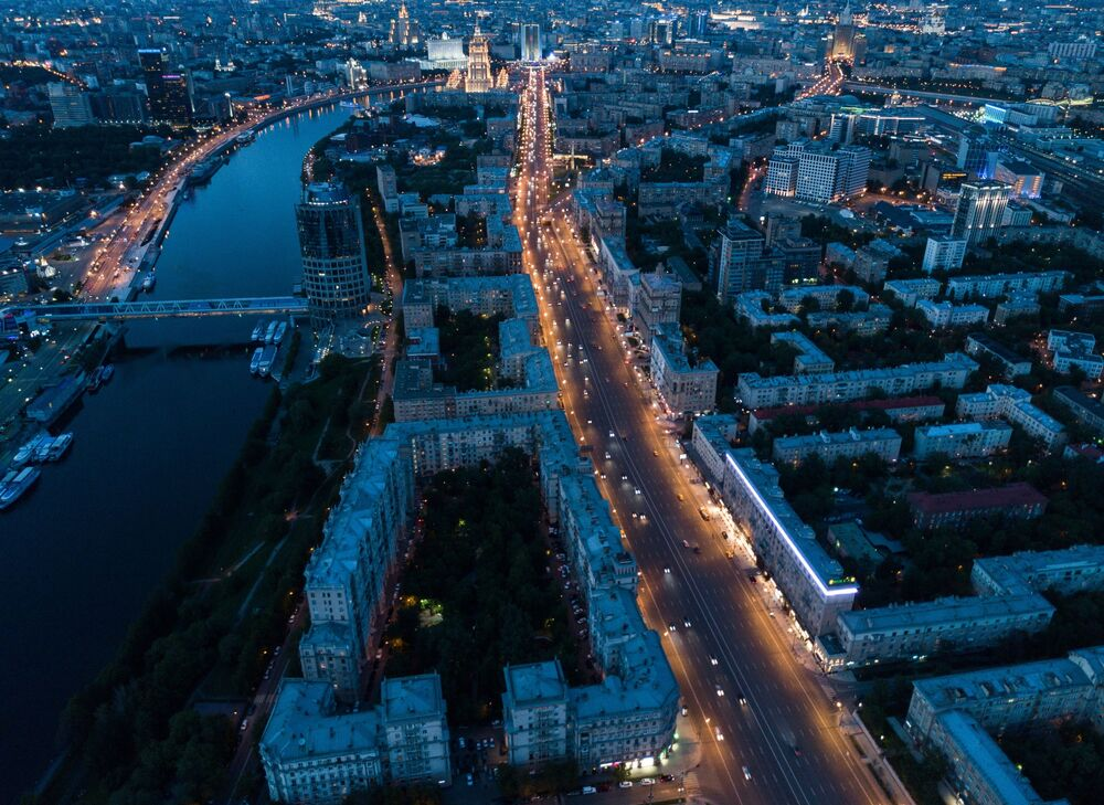 A View From Above: Bird's Eye Panorama of Moscow
