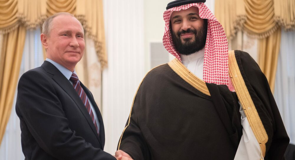 May 30, 2017. Russian President Vladimir Putin meets with Deputy Crown Prince of Saudi Arabia, Second Deputy Prime Minister and Defense Minister Mohammad bin Salman Al Saud, right.