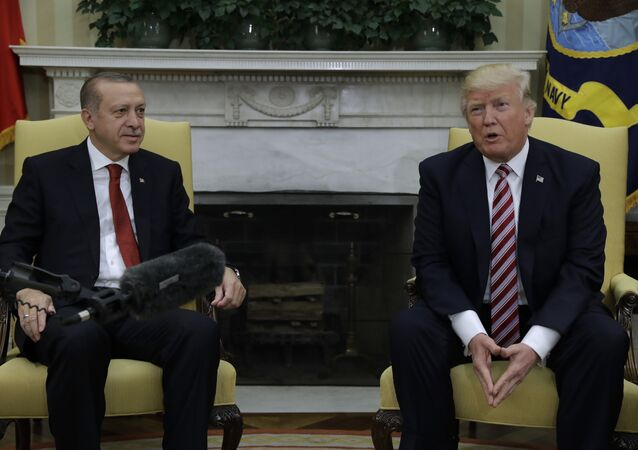 President Donald Trump meets with Turkish President Recep Tayyip Erdogan in the Oval Office of the White House in Washington