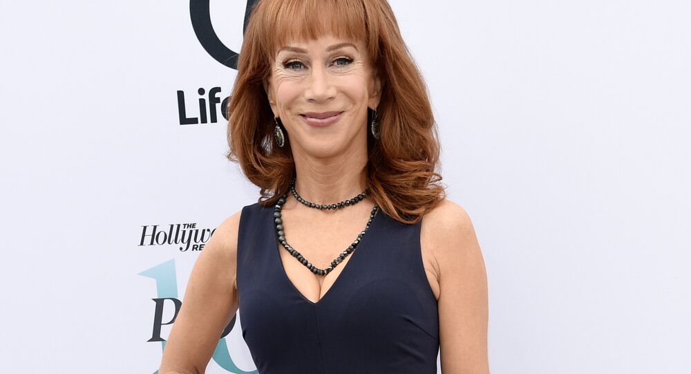 Kathy Griffin faces backlash for suggesting Donald Trump use empty syringe