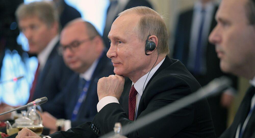 Russian President Vladimir Putin attends 2017 St. Petersburg International Economic Forum