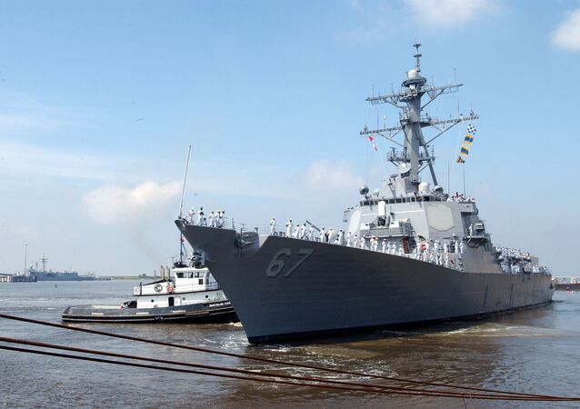 US Navy guided missile destroyer USS Cole (DDG 67)