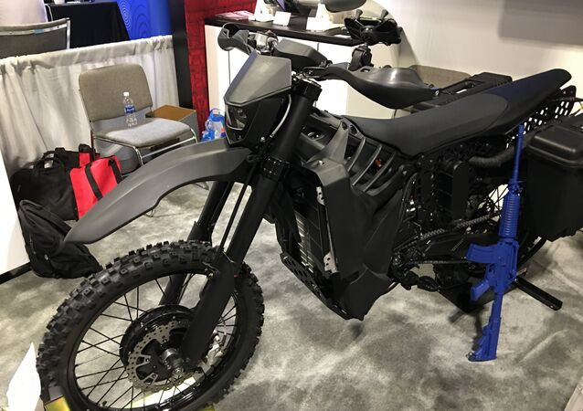 SilentHawk Hybrid Electric Stealth Military Motorcycle