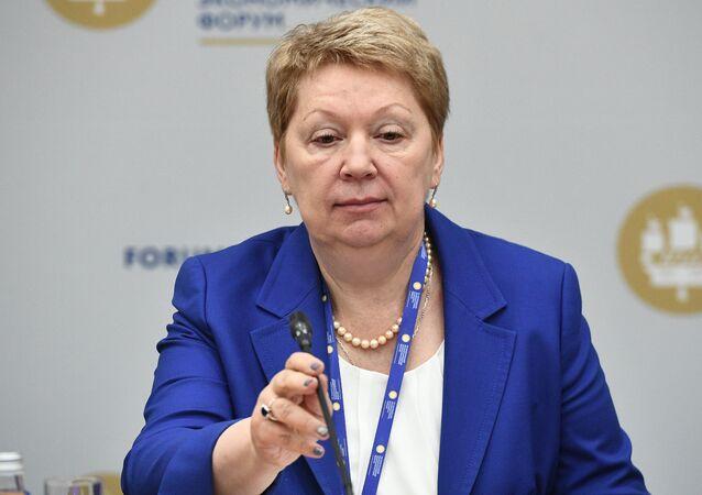Minister of Education and Science Olga Vasilyeva at the 2017 St. Petersburg International Economic Forum