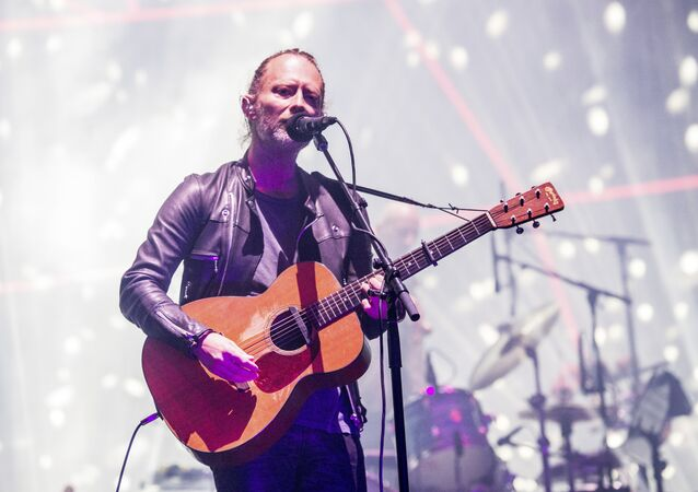 Thom Yorke of Radiohead performs at Coachella Music & Arts Festival at the Empire Polo Club on Friday, 14 April 2017, in Indio, California.