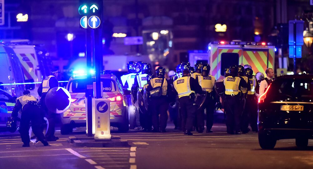 Police attend to an incident on London Bridge in London, Britain, June 3, 2017
