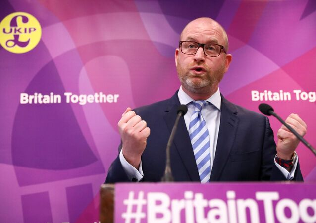 Paul Nuttall, the leader of Britain's United Kingdom Independence Party (UKIP) attends a policy launch in London, May 8, 2017