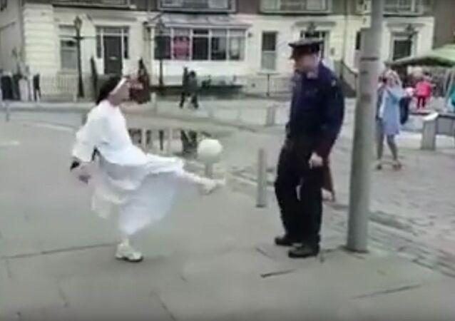 Keepie Uppies in Limerick City, Ireland