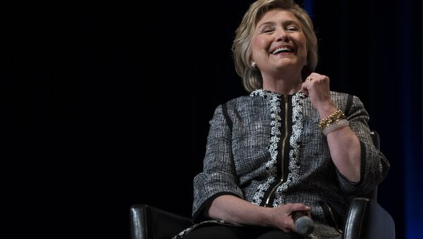 Former Secretary of State Hillary Clinton laughs while speaking during the Book Expo event in New York Thursday, June 1, 2017. - Sputnik International