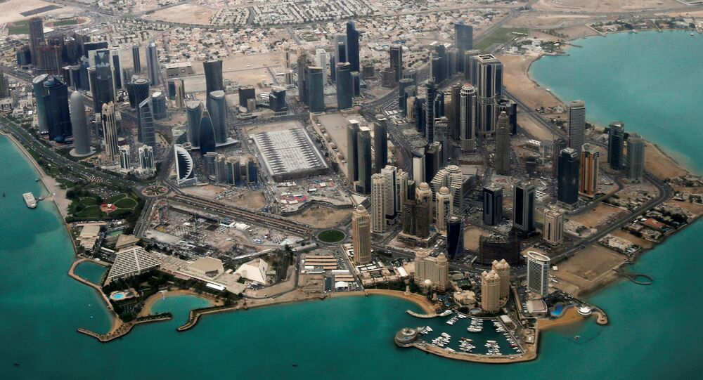 An aerial view of Doha's diplomatic area (File)