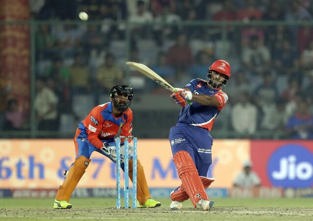 Delhi Daredevils' Rishab Pant plays a shot during the Indian Premier League (IPL) cricket match against Gujarat Lions in New Delhi, India, Thursday, May 4, 2017